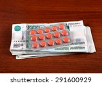 russian rubles and medical... | Shutterstock . vector #291600929