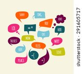 speech bubbles. | Shutterstock .eps vector #291605717