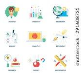 science vector icons set modern ... | Shutterstock .eps vector #291608735