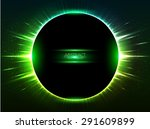 Dark Green Vector Shining...