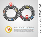 infinity road location ... | Shutterstock .eps vector #291611861