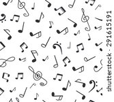 hand drawn music notes. music... | Shutterstock .eps vector #291615191