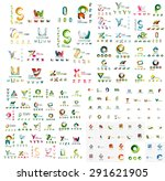 logo huge mega collection ... | Shutterstock .eps vector #291621905