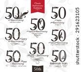 50th anniversary emblems.... | Shutterstock .eps vector #291623105