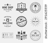 vector set of wine shop labels  ... | Shutterstock .eps vector #291625559