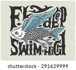t shirt print with strange... | Shutterstock .eps vector #291629999