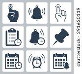 reminders vector icon set | Shutterstock .eps vector #291630119