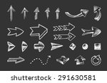 hand drawn arrows icons set... | Shutterstock .eps vector #291630581