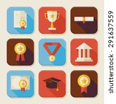 graduation and success squared...   Shutterstock .eps vector #291637559