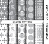 korean vector pattern pattern...   Shutterstock .eps vector #291640355