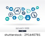 security network. hexagon... | Shutterstock .eps vector #291640781