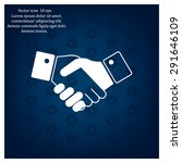icon of handshake sign. | Shutterstock .eps vector #291646109