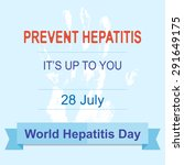 world hepatitis day july.... | Shutterstock .eps vector #291649175