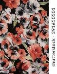 vintage rose floral fabric | Shutterstock . vector #291650501
