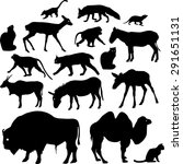 silhouettes of animals | Shutterstock .eps vector #291651131