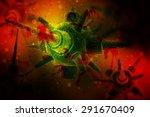 Bacteria  Virus  Cell 3d