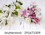 spring apple tree blossoms and... | Shutterstock . vector #291671309