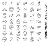 health and fitness vector icons. | Shutterstock .eps vector #291677369