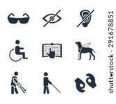 physically disability related... | Shutterstock .eps vector #291678851