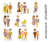 family figures icons set of... | Shutterstock .eps vector #291680399