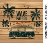 Grunge  Vintage  Retro Surf Van ...