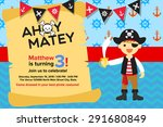 Ahoy Matey Pirate Boy Birthday...