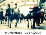 blurred image of people moving... | Shutterstock . vector #291712307