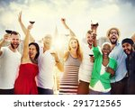 friends friendship celebration... | Shutterstock . vector #291712565