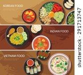 asia street food web banner  ... | Shutterstock .eps vector #291713747