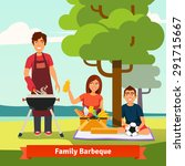 family on vacation having... | Shutterstock .eps vector #291715667