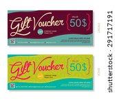 gift voucher template voucher ... | Shutterstock .eps vector #291717191