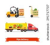 fresh fruit and vegetables... | Shutterstock .eps vector #291717737