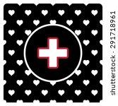 the white cross in a red stroke.... | Shutterstock .eps vector #291718961