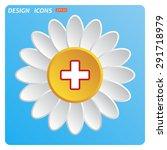 the white cross in a red stroke.... | Shutterstock .eps vector #291718979