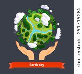 earth day concept. human hands... | Shutterstock .eps vector #291719285