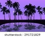 tropical palm tree beach...