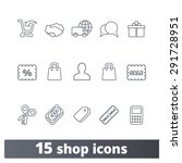 on line shop thin line icons ... | Shutterstock .eps vector #291728951