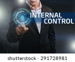 businessman presses button... | Shutterstock . vector #291728981