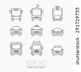 transport icons set. vehicle... | Shutterstock .eps vector #291729755