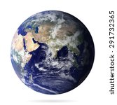 earth realistic with shadow... | Shutterstock .eps vector #291732365