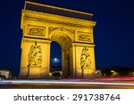 beautiful night view of the arc ... | Shutterstock . vector #291738764
