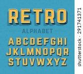 retro style alphabet vector... | Shutterstock .eps vector #291741371