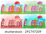 set of tale colored trees | Shutterstock .eps vector #291747209