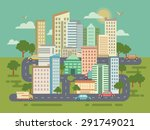city landscape with buildings... | Shutterstock .eps vector #291749021