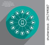 global communication concept... | Shutterstock .eps vector #291749087