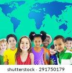 global globalization world map... | Shutterstock . vector #291750179