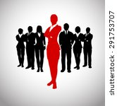 successful leader of a team. a... | Shutterstock .eps vector #291753707