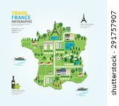 infographic travel and landmark ... | Shutterstock .eps vector #291757907