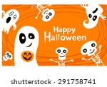 halloween greeting card with... | Shutterstock .eps vector #291758741