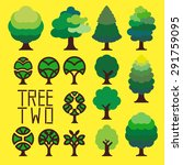 graphic of simple trees ... | Shutterstock .eps vector #291759095